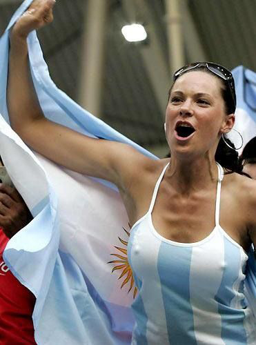 Argentina Fans cheering their them on