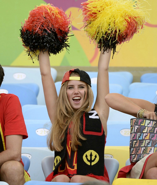 Did you know their are Belgium cheerleaders too?