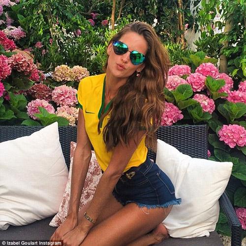 Brazilian Soccer fan posing