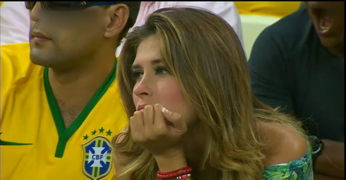 Attent brazil fans looking on