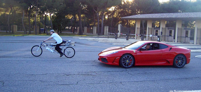 how to beat a ferrari in a street race with your bicycle