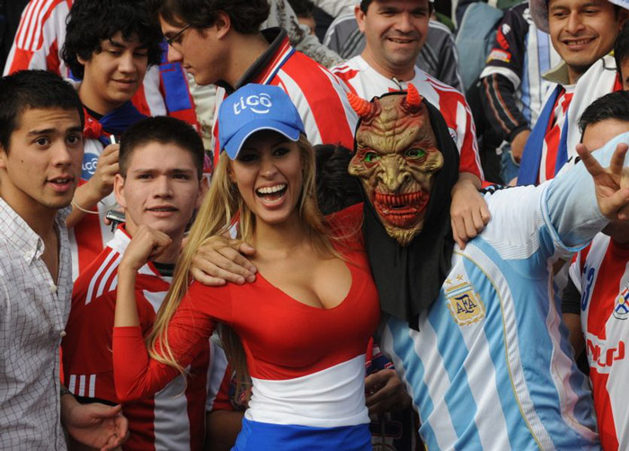 Paraguay soccer fans!