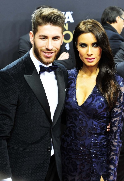 Pilar Rubio with Sergio Ramos 2015 Ballon D'OR