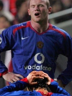 Perfectly timed picture of Rooney