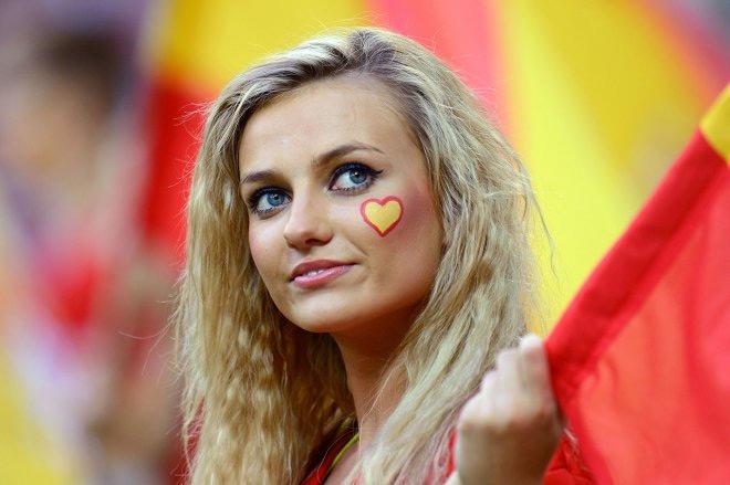 Spains beautiful soccer fan base