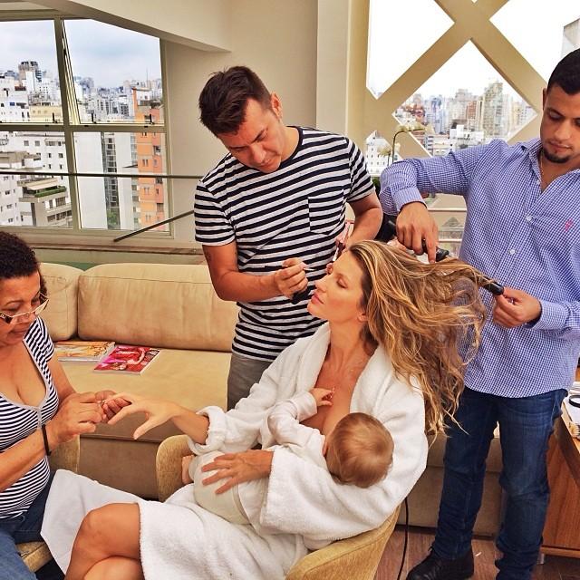 Gisele Bundchen Breast Feeding