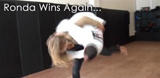 Ronda Breaks Reporters Ribs